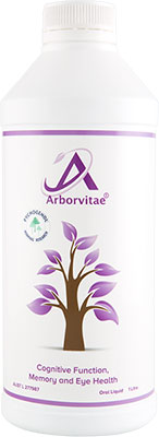A bottle of Arborvitae Cognitive Function, Memory and Eye Health